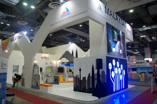 Exhibition Booth Supplier Singapore : Communic asia exhibition management services